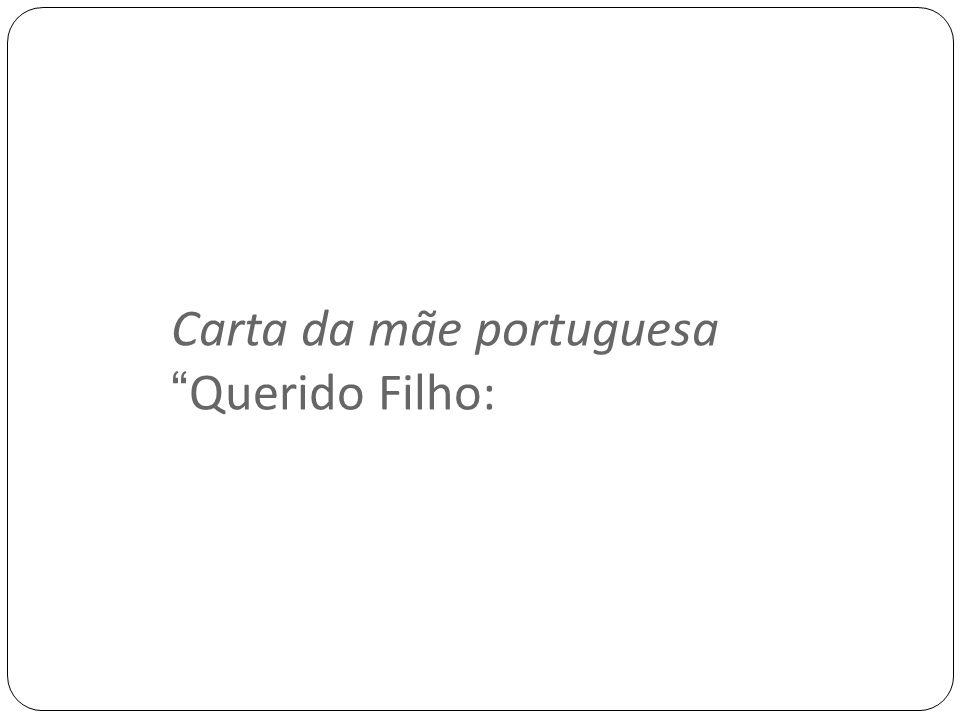 Carta da mãe portuguesa