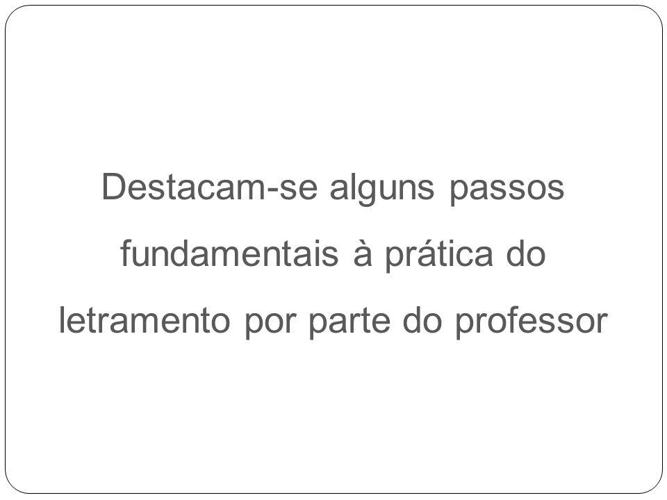 Destacam-se alguns passos fundamentais à prática do letramento por parte do professor