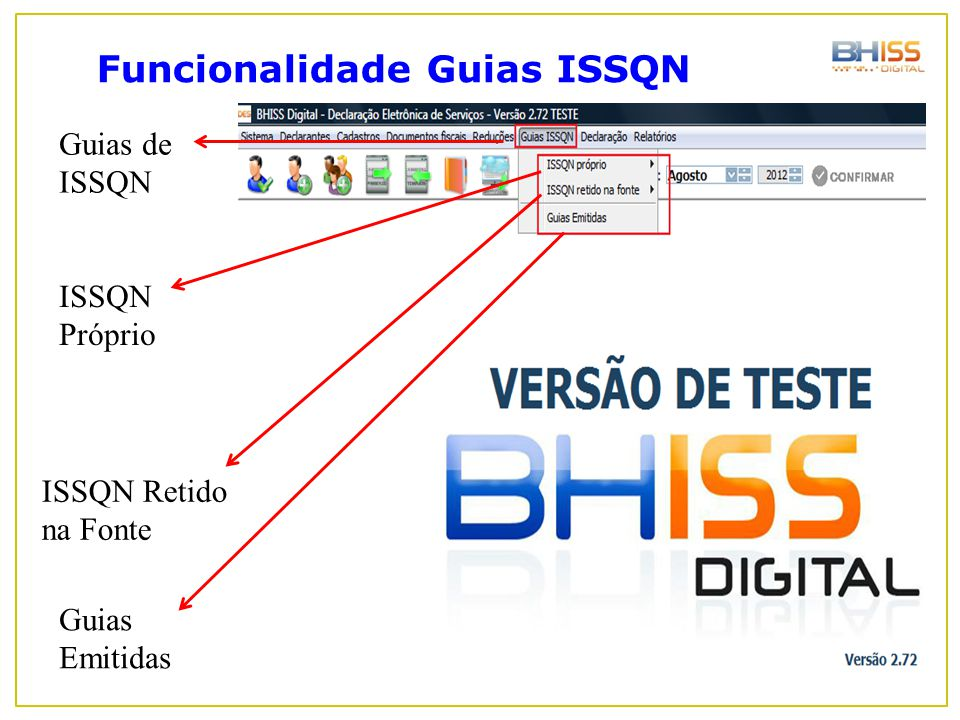 Funcionalidade Guias ISSQN