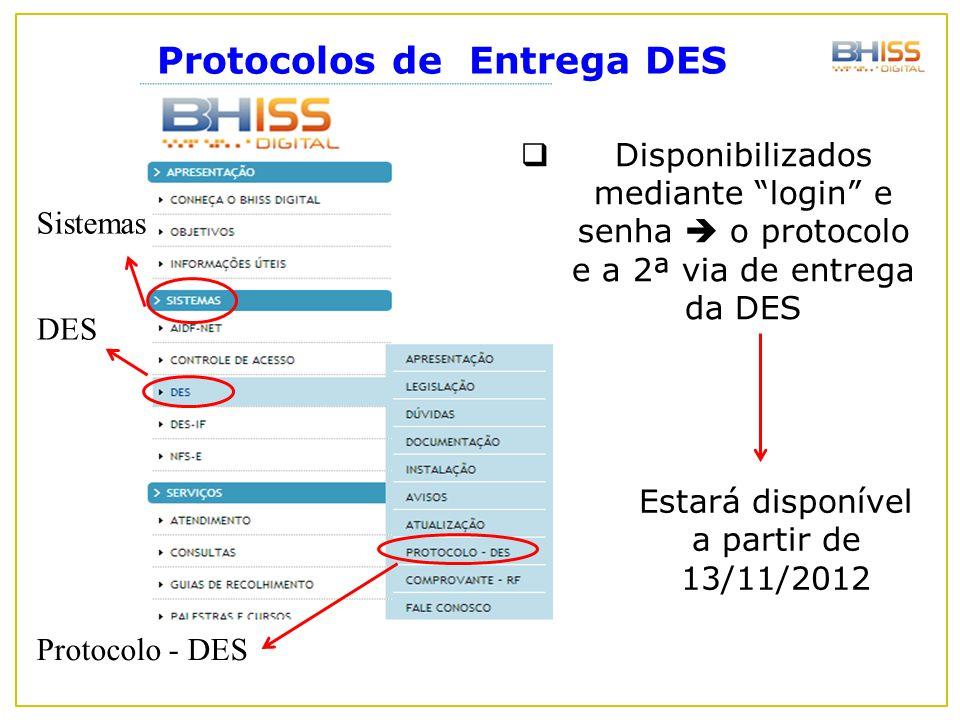 Protocolos de Entrega DES