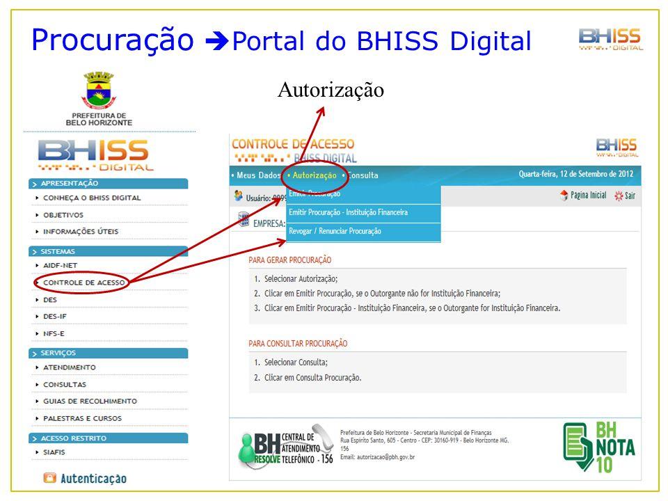 Procuração Portal do BHISS Digital