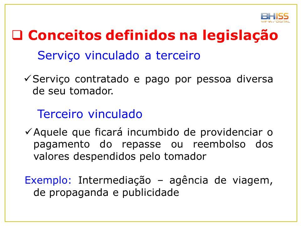 Conceitos definidos na legislação
