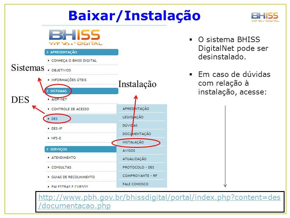 Baixar/Instalação Sistemas Instalação DES