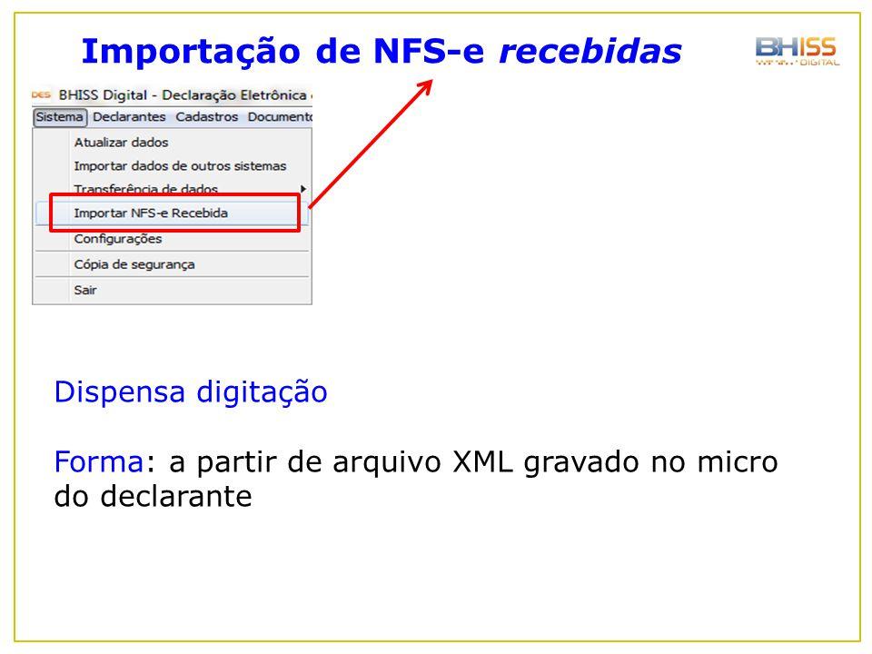Importação de NFS-e recebidas