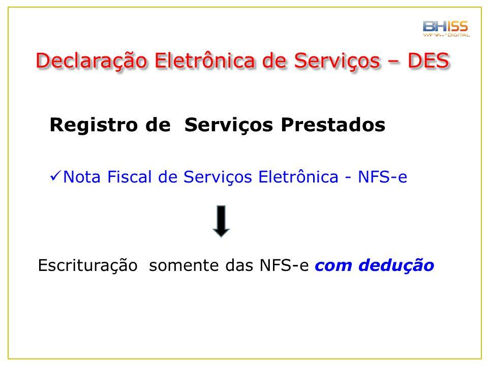 Declaração Eletrônica de Serviços – DES
