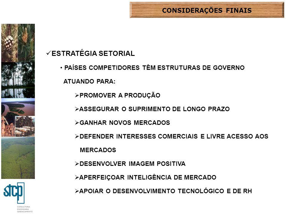 ESTRATÉGIA SETORIAL CONSIDERAÇÕES FINAIS