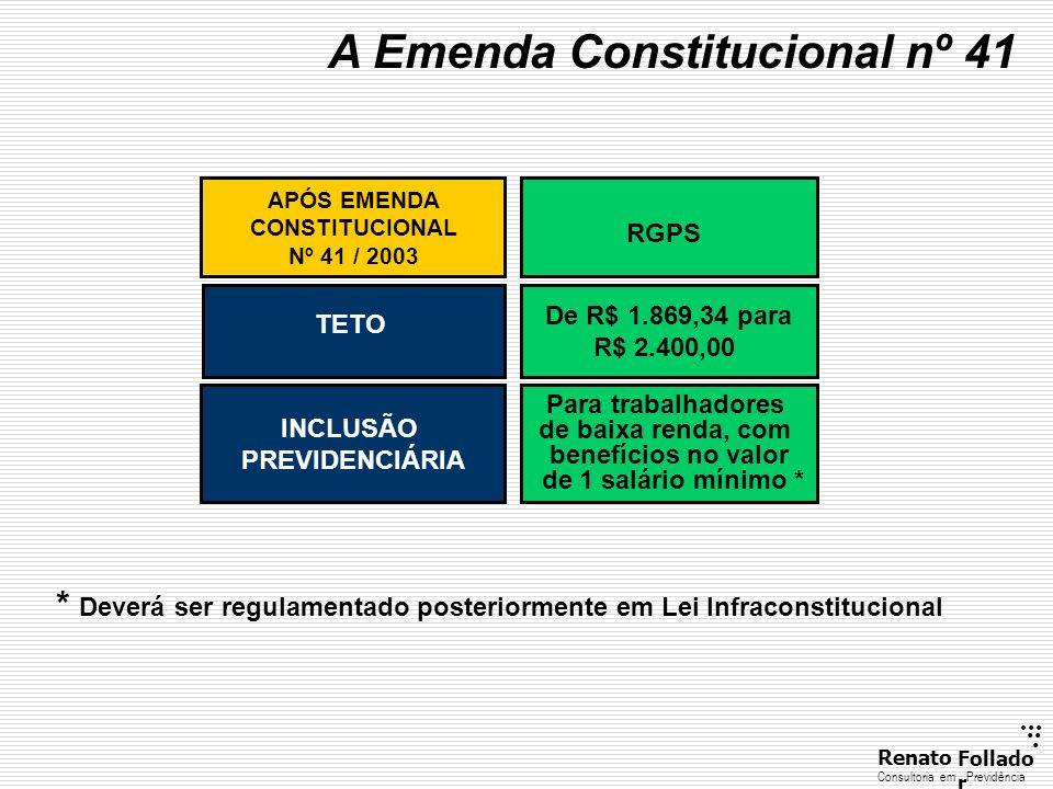 A Emenda Constitucional nº 41