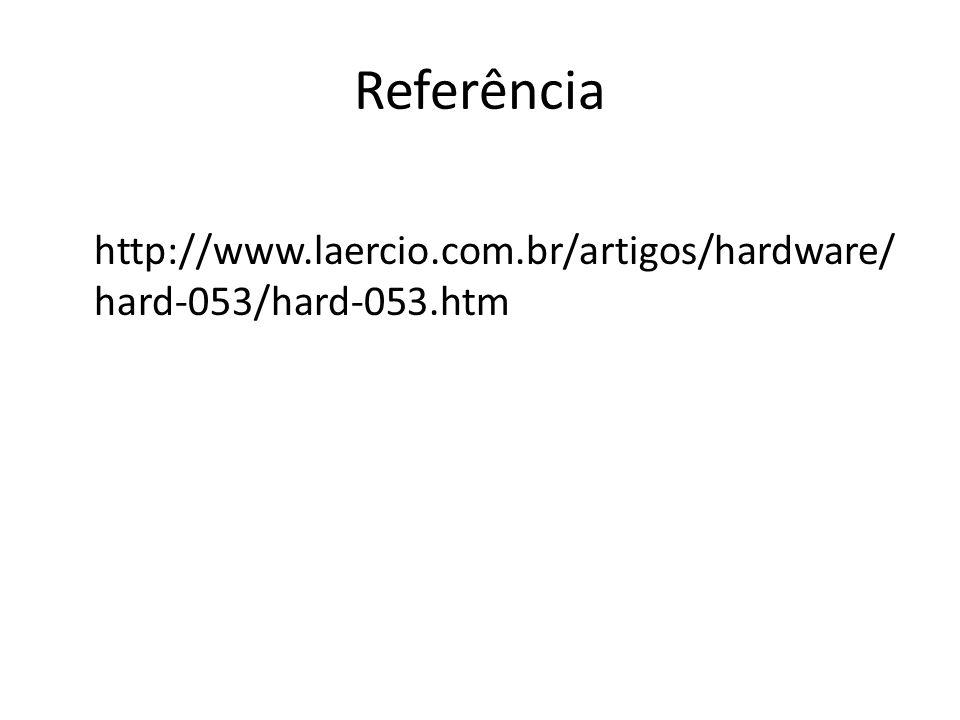 Referência http://www.laercio.com.br/artigos/hardware/hard-053/hard-053.htm