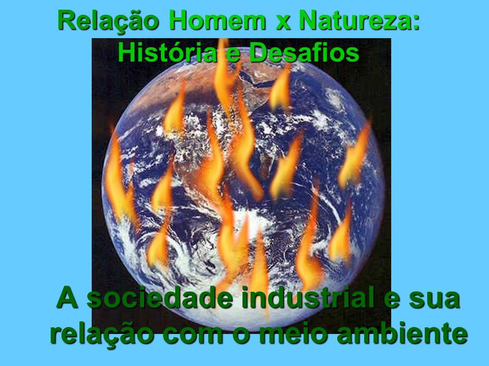 A sociedade industrial e sua relação com o meio ambiente