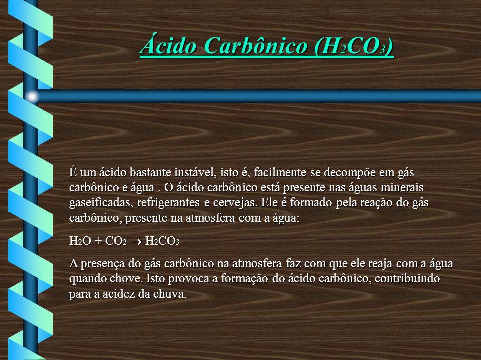 Ácido Carbônico (H2CO3)