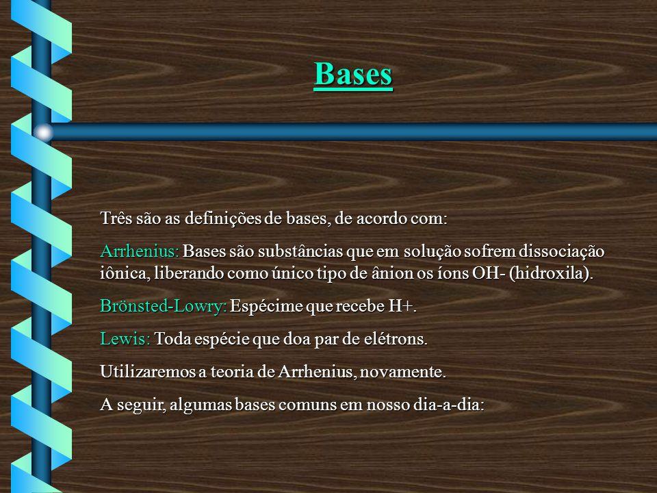 Bases Três são as definições de bases, de acordo com: