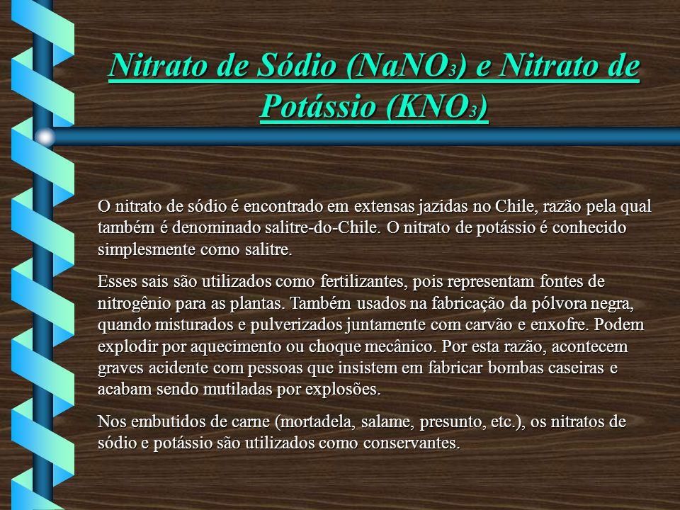 Nitrato de Sódio (NaNO3) e Nitrato de Potássio (KNO3)