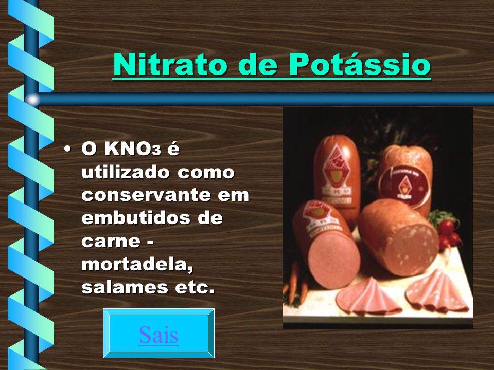 Nitrato de Potássio Sais