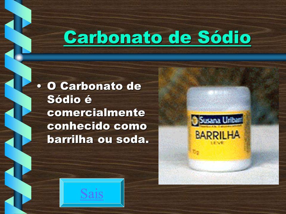 Carbonato de Sódio Sais