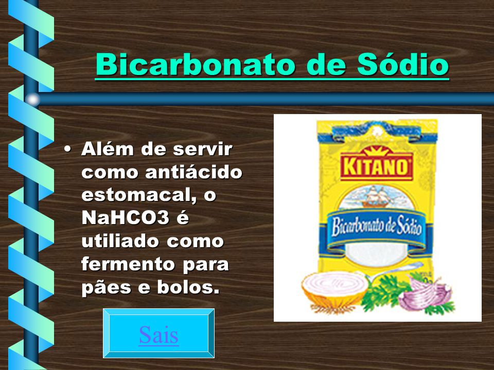 Bicarbonato de Sódio Sais