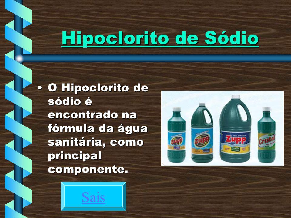 Hipoclorito de Sódio Sais