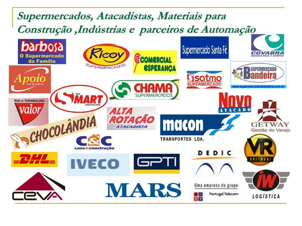 Supermercados, Atacadistas, Materiais para Construção ,Indústrias e parceiros de Automação