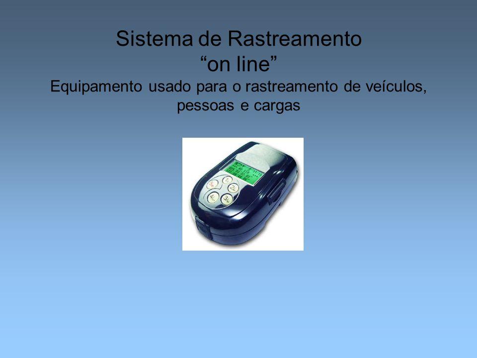 Sistema de Rastreamento on line Equipamento usado para o rastreamento de veículos, pessoas e cargas