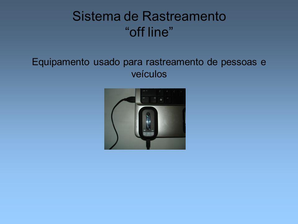 Sistema de Rastreamento off line Equipamento usado para rastreamento de pessoas e veículos