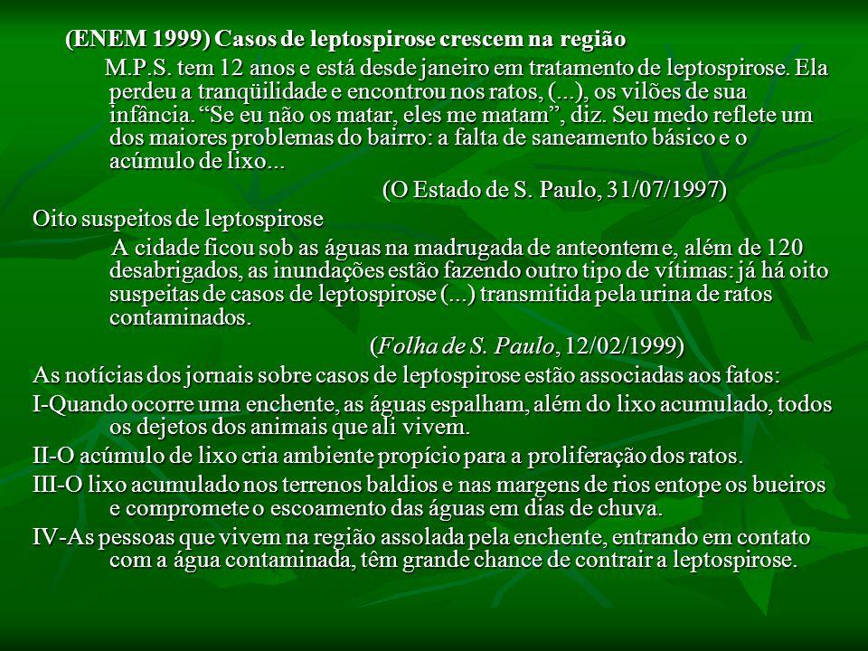 Oito suspeitos de leptospirose