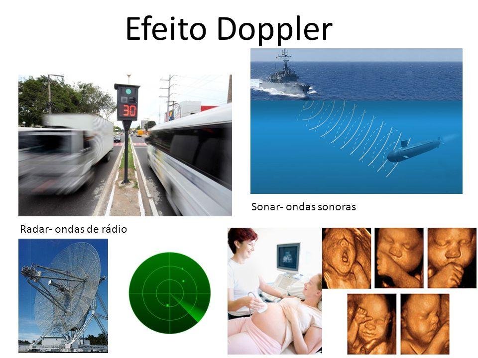 Efeito Doppler Sonar- ondas sonoras Radar- ondas de rádio