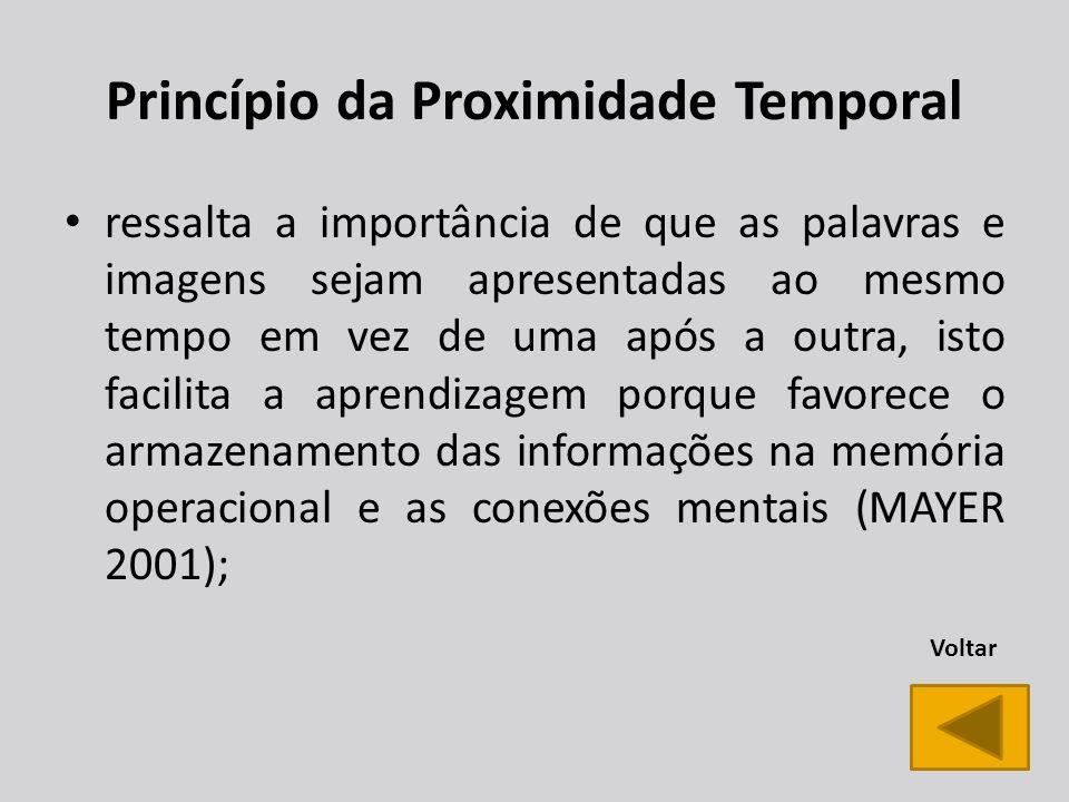 Princípio da Proximidade Temporal