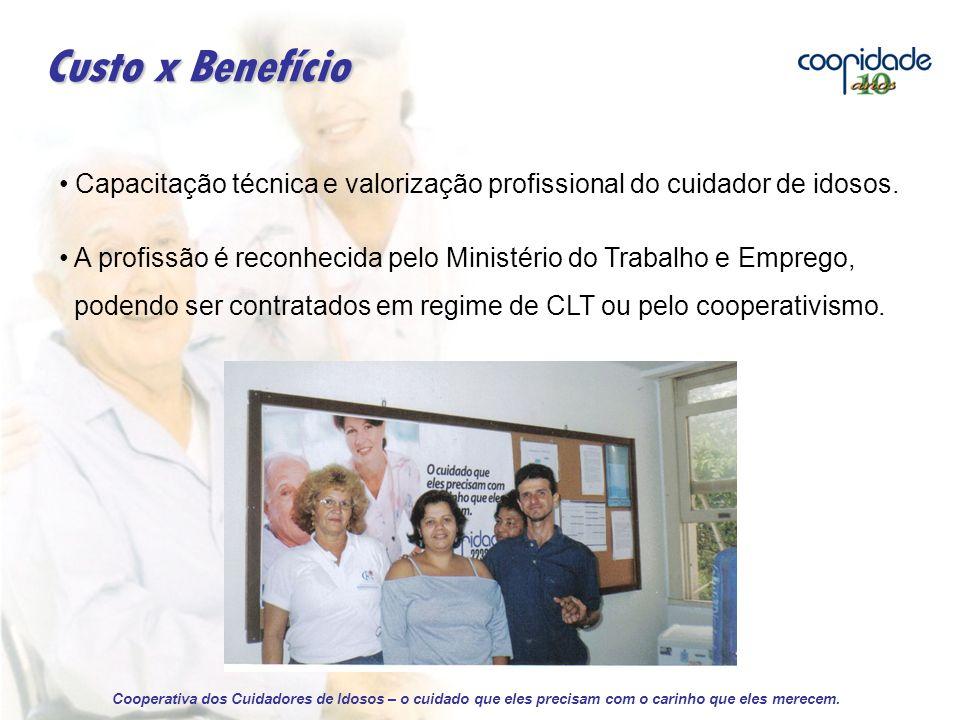 Custo x Benefício Capacitação técnica e valorização profissional do cuidador de idosos.