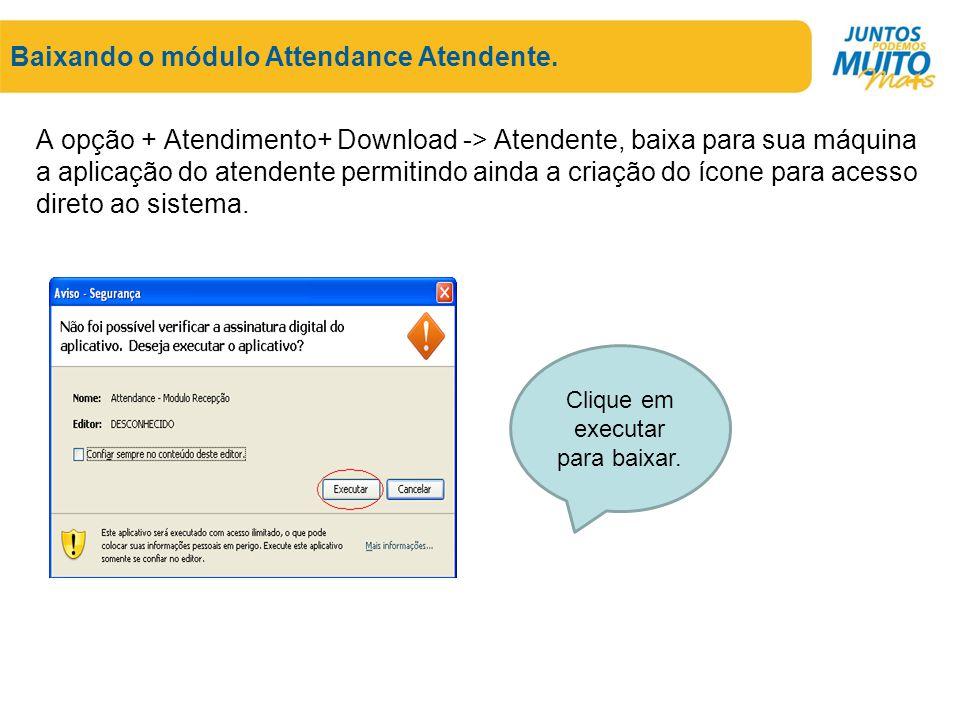 Baixando o módulo Attendance Atendente.