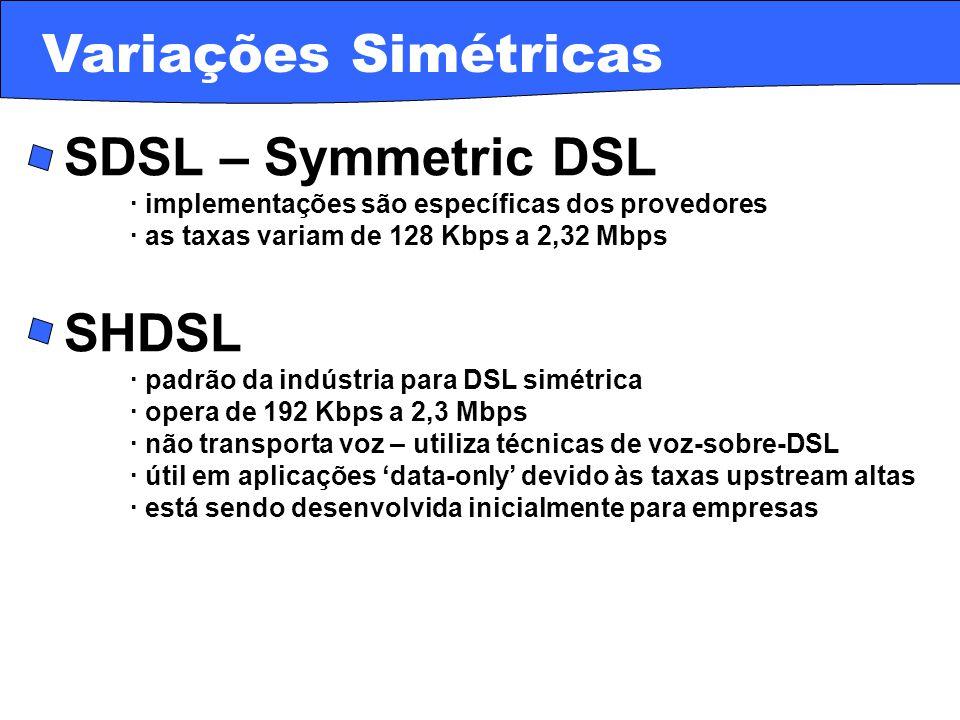 Variações Simétricas · SDSL – Symmetric DSL · SHDSL