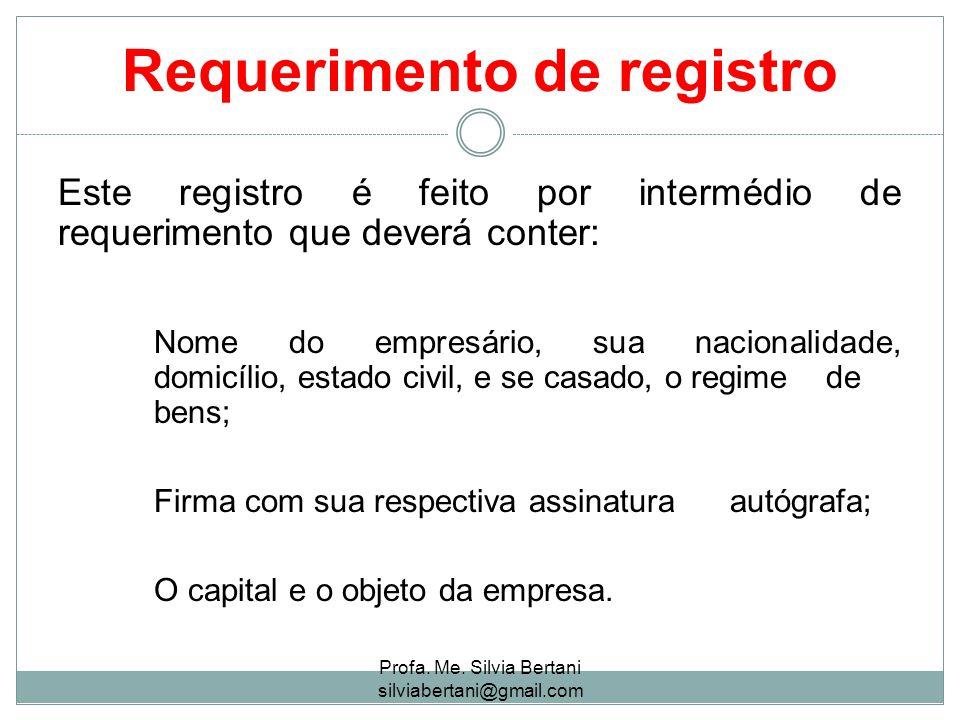 Requerimento de registro