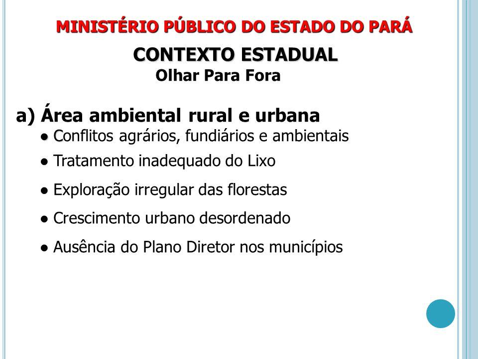 Área ambiental rural e urbana