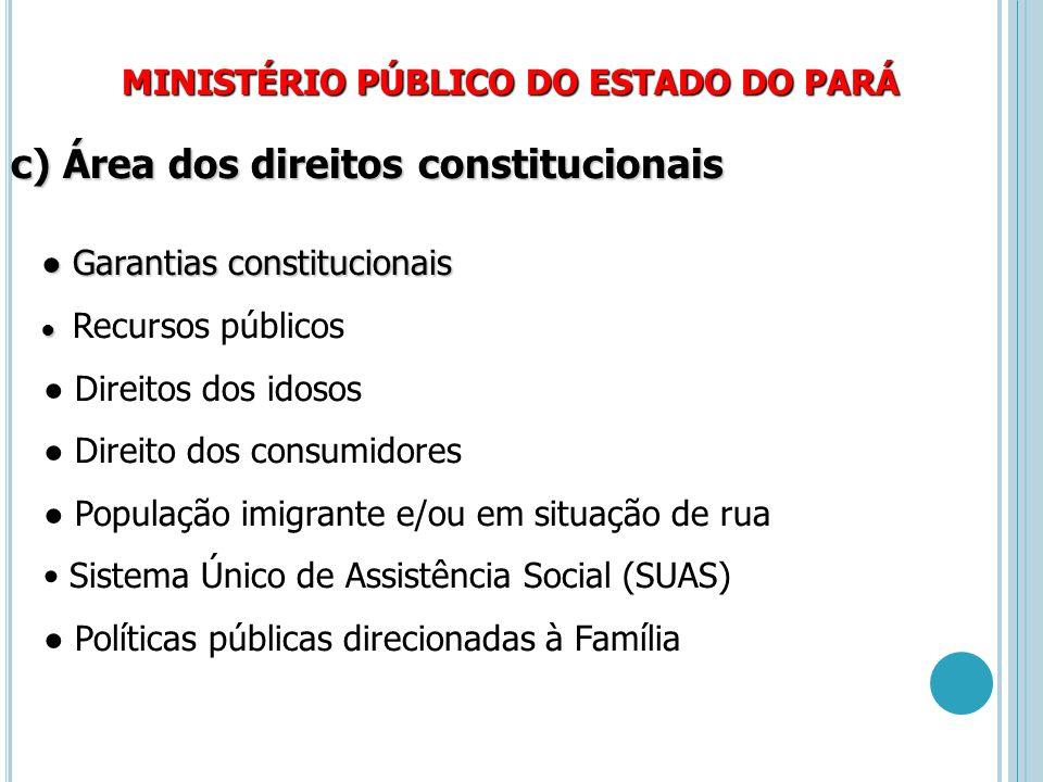 c) Área dos direitos constitucionais