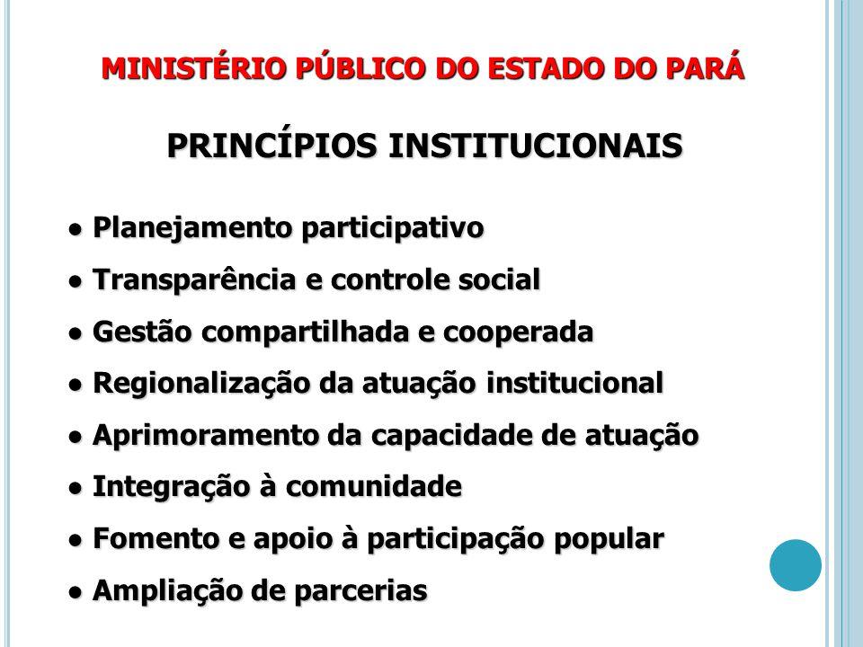 PRINCÍPIOS INSTITUCIONAIS