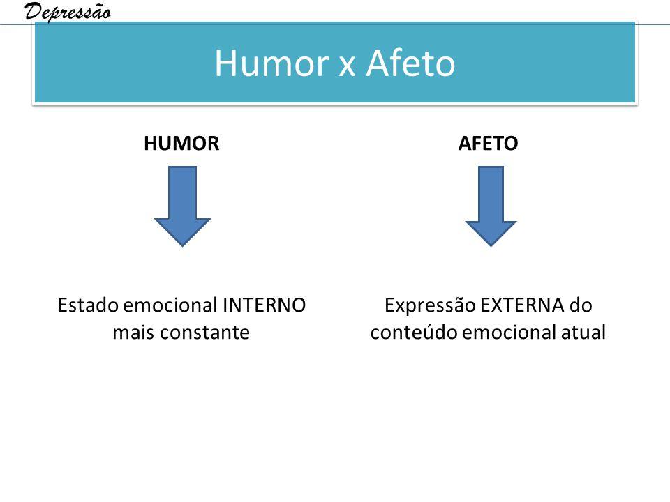 Humor x Afeto Depressão HUMOR AFETO