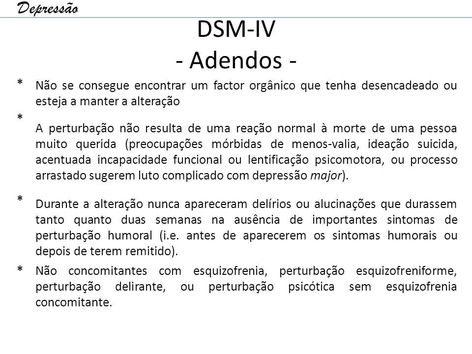 DSM-IV - Adendos - Depressão