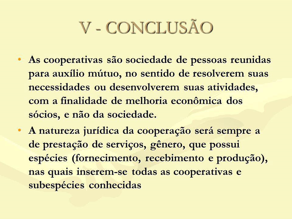 V - CONCLUSÃO
