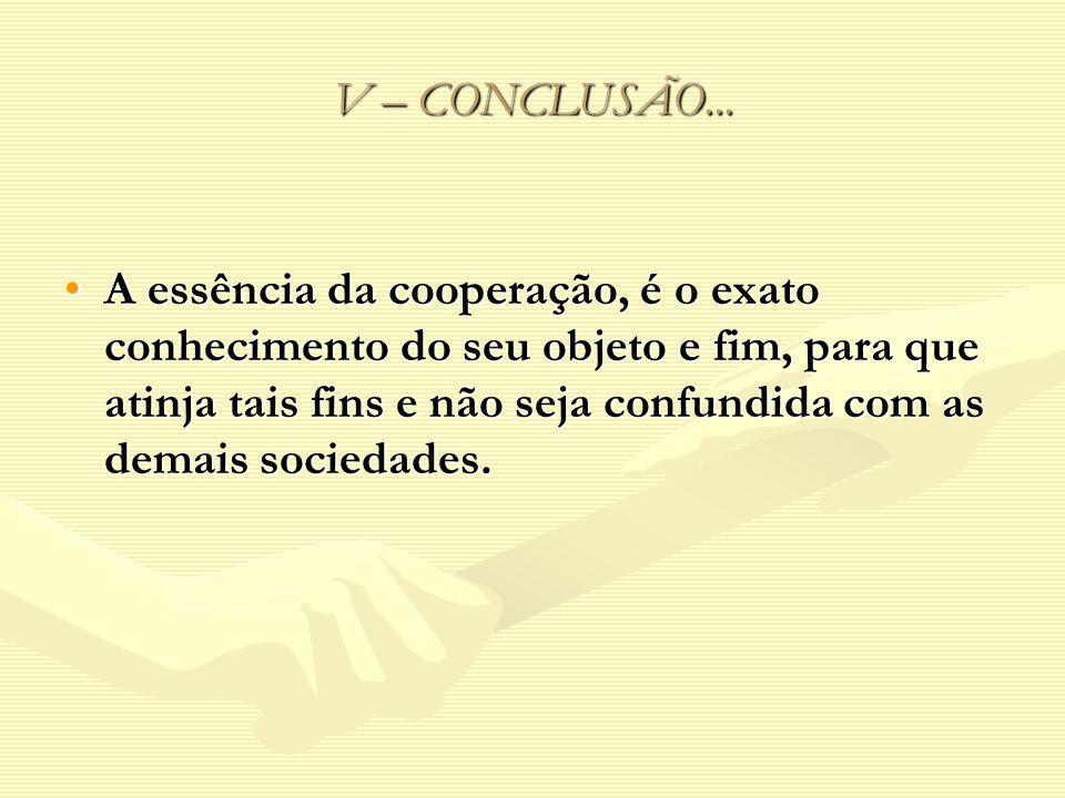 V – CONCLUSÃO...
