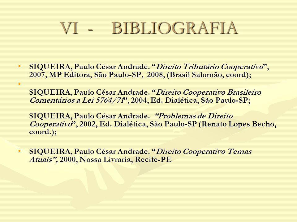 VI - BIBLIOGRAFIA