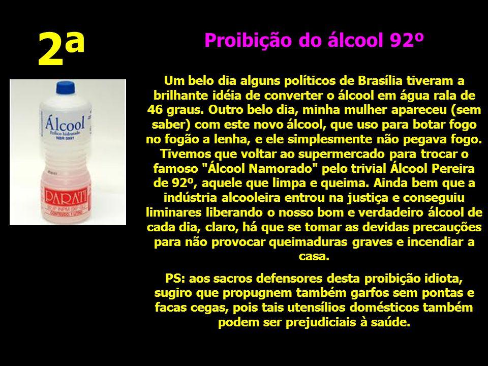 2ª Proibição do álcool 92º.
