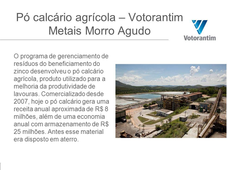 Pó calcário agrícola – Votorantim Metais Morro Agudo