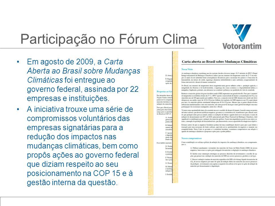 Participação no Fórum Clima