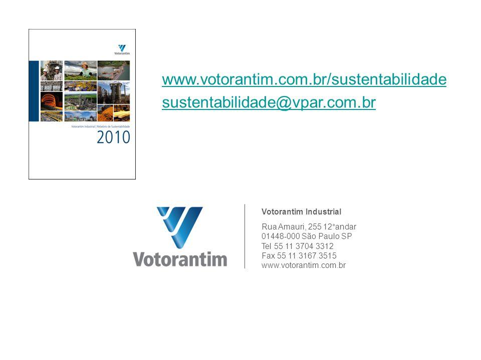 www.votorantim.com.br/sustentabilidade sustentabilidade@vpar.com.br