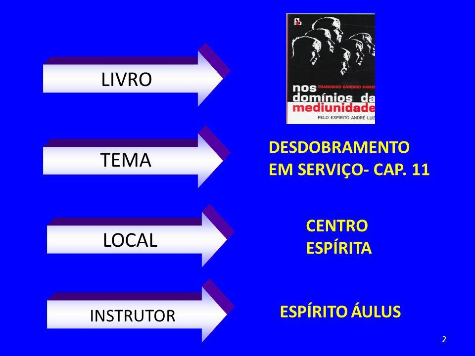 LIVRO TEMA LOCAL INSTRUTOR DESDOBRAMENTO EM SERVIÇO- CAP. 11 CENTRO