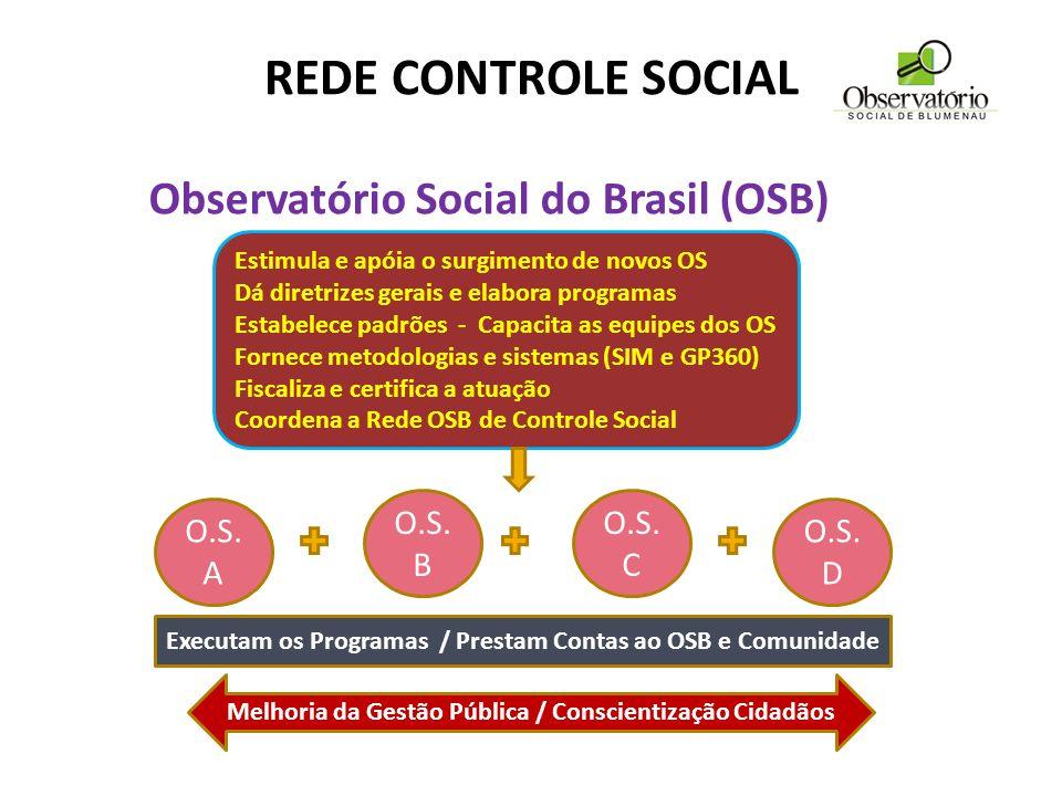 Executa os programas Presta contas ao OSB e à socieda