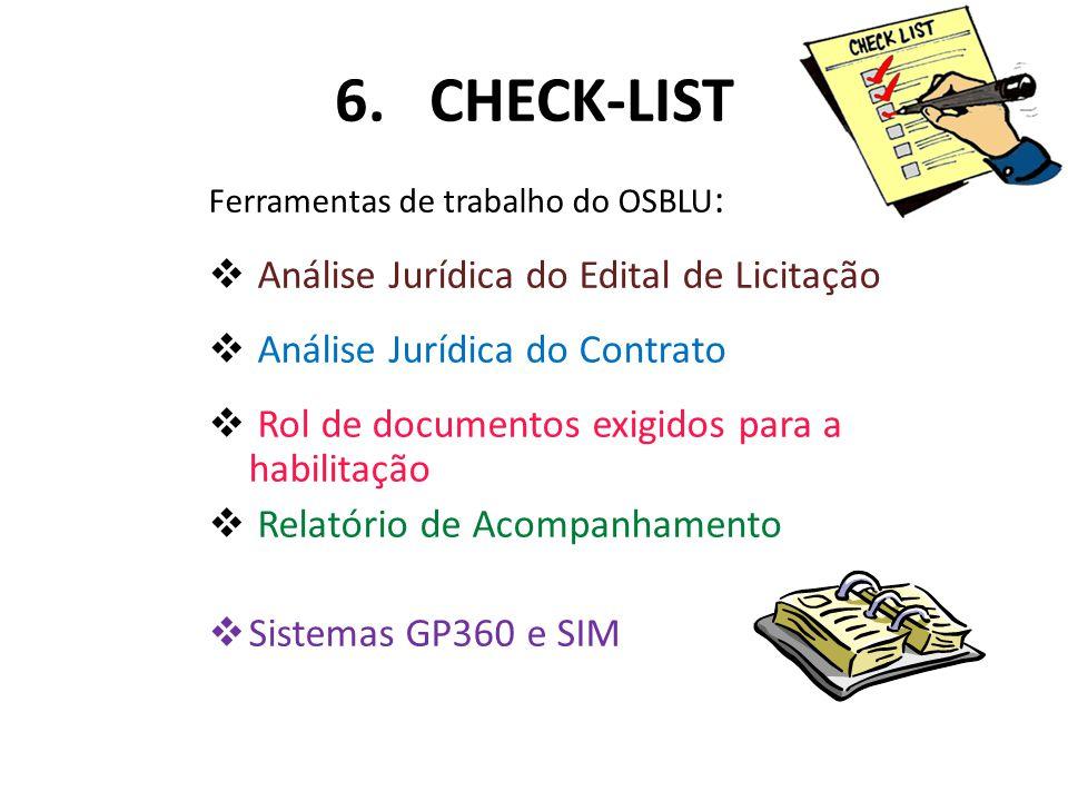 6. CHECK-LIST Análise Jurídica do Edital de Licitação