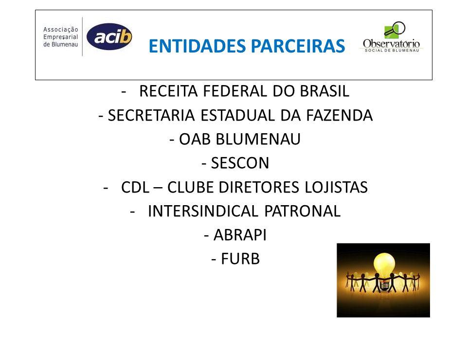ENTIDADES PARCEIRAS RECEITA FEDERAL DO BRASIL