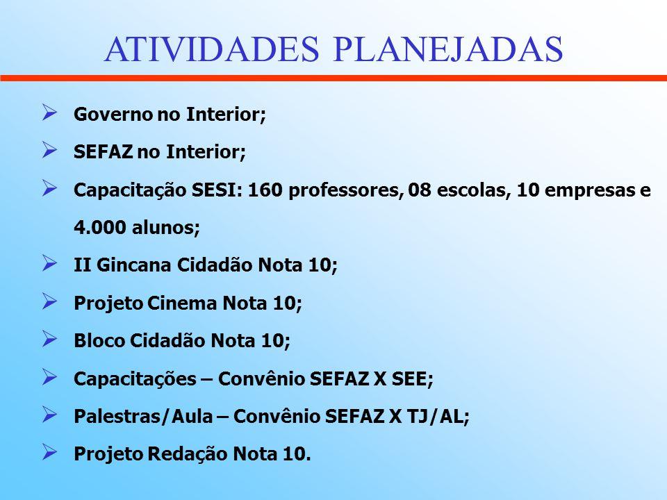 ATIVIDADES PLANEJADAS