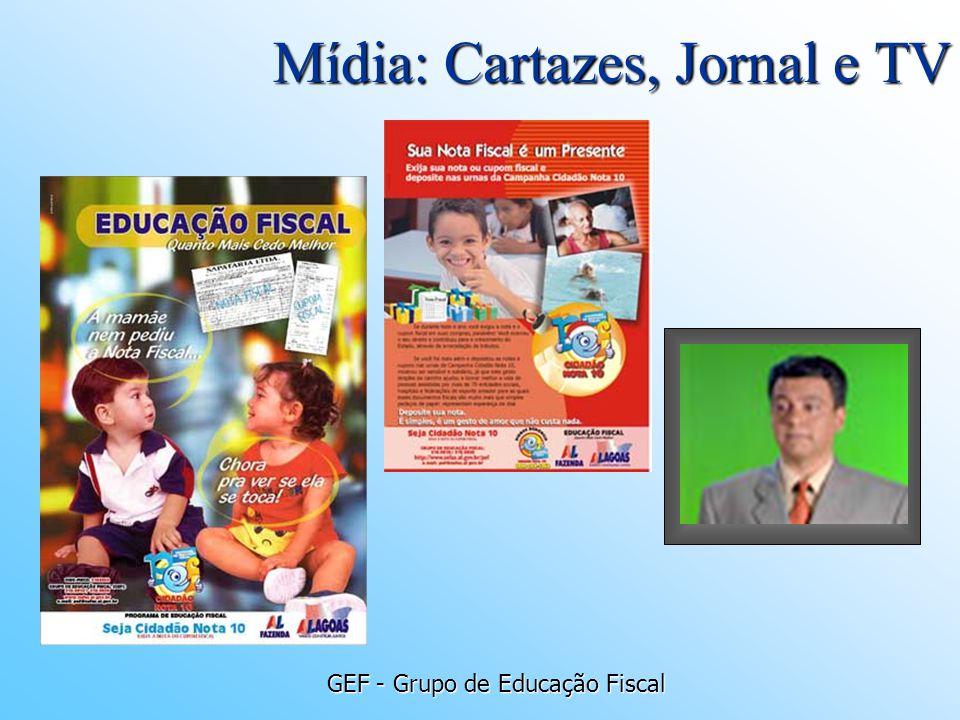 Mídia: Cartazes, Jornal e TV