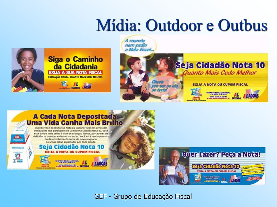 Mídia: Outdoor e Outbus