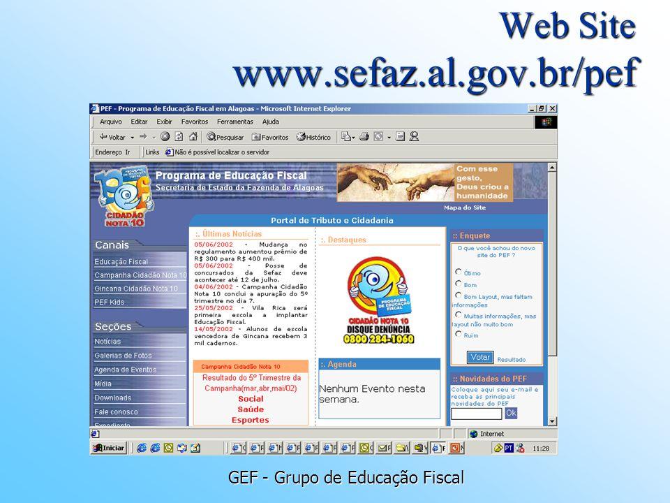 Web Site www.sefaz.al.gov.br/pef